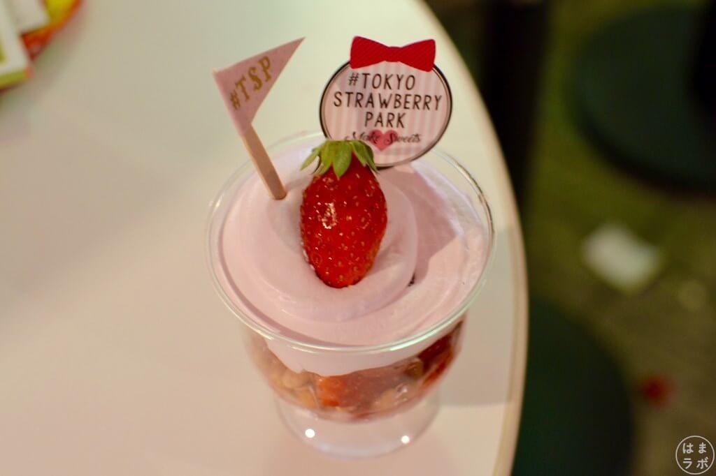 東京ストロベリーパークのめっちゃいちごパフェ